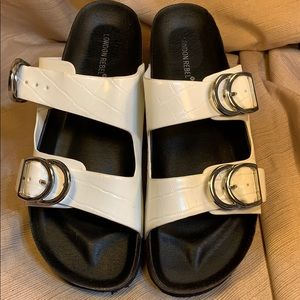 London Rebel wide fit cork sandals almost new